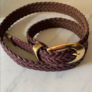 Capezio | Brown Woven Leather Belt | M/L